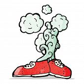 cartoon smelly old shoes