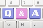 Q and A key on keyboard