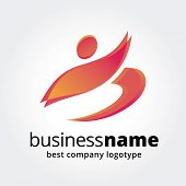 Key ideas is business, team, sport, command, leadership. Concept for corporate identity and branding