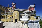 National Palace Of Pena In  Sintra Portugal Protected By Unesco