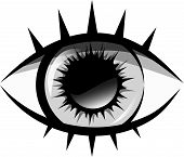 Vector Black And White Illustration. The Human Eye
