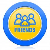 friends blue yellow icon