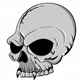 Single Grey Skull