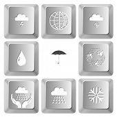 Weather set. Vector set computer keys.