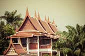 Traditional Thai Architecture In Bangkok,thailand