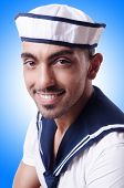 Male sailor in studio shooting