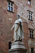 Francesco Di Marco Datini Statue In The Comune Square, Prato