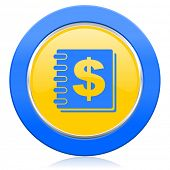 money blue yellow icon