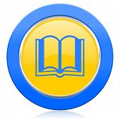 book blue yellow icon