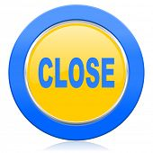 close blue yellow icon