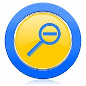 lens blue yellow icon