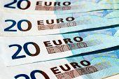 Banknotes Of Twenty Euro