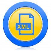 xml file blue yellow icon