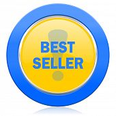best seller blue yellow icon