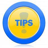 tips blue yellow icon