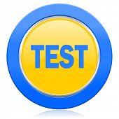 test blue yellow icon