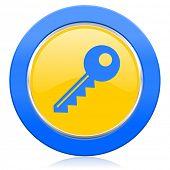 key blue yellow icon