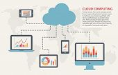 Cloud computing concept. Infographic template