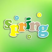 Spring Colored Background With The Words