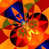 stock photo of color geometric shape  - Geometric background for design artworks - JPG