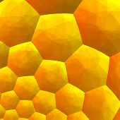 Abstract fractal background. Computer generated graphics. Abstract honey bee hive.