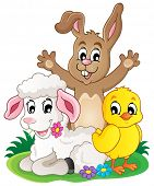 Spring animals theme image 1 - eps10 vector illustration.