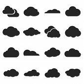 Cloud Shapes Vector Set
