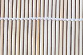 Close Up Macro Of Beige Brown Bamboo Mat