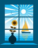 Sailboat Outside Window