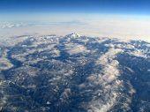 Mt Hood in Clouds