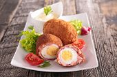 baked egg and meat
