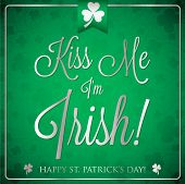 St. Patrick's Day Typographic Card In Vector Format