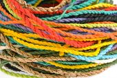 pic of mulberry  - colorful rope made from mulberry paper on white background - JPG