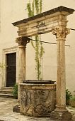 antique water well