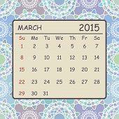 Calendar march 2015 design