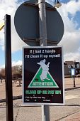 foto of pooper  - warning sign on dog littering in ireland