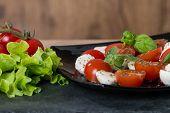 Caprese Salad With Cherry Tomatoes