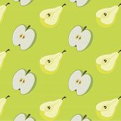 Background Of Pears And Apples