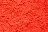 Red Crumpled Paper, For Backgrounds