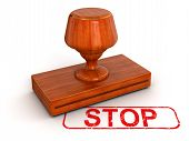 Rubber Stamp Stop (clipping path included)