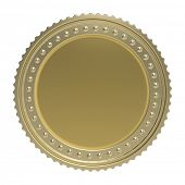 gold coin isolated on white background