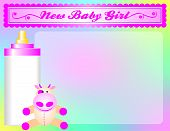 New Baby Girl Arrival Announcement