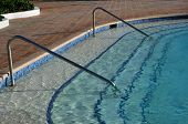 Edge of swimming pool