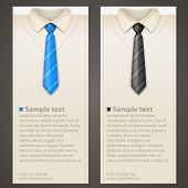 Shirt and tie business card