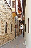 Narrow Street In Antalya, Turkey