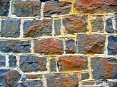 Rusty Stone Wall