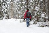 Photographer In Winter Landscape