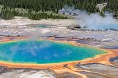 Colorful of Grand Prismatic Spring in Yellowstone, Wyoming