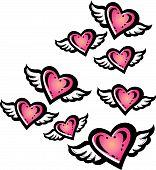 flying heart design