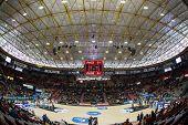 VALENCIA, SPAIN - FEBRUARY 15: Fonteta Stadium during Spanish League match between Valencia Basket Club and Real Madrid at Fonteta Stadium on February 15, 2015 in Valencia, Spain